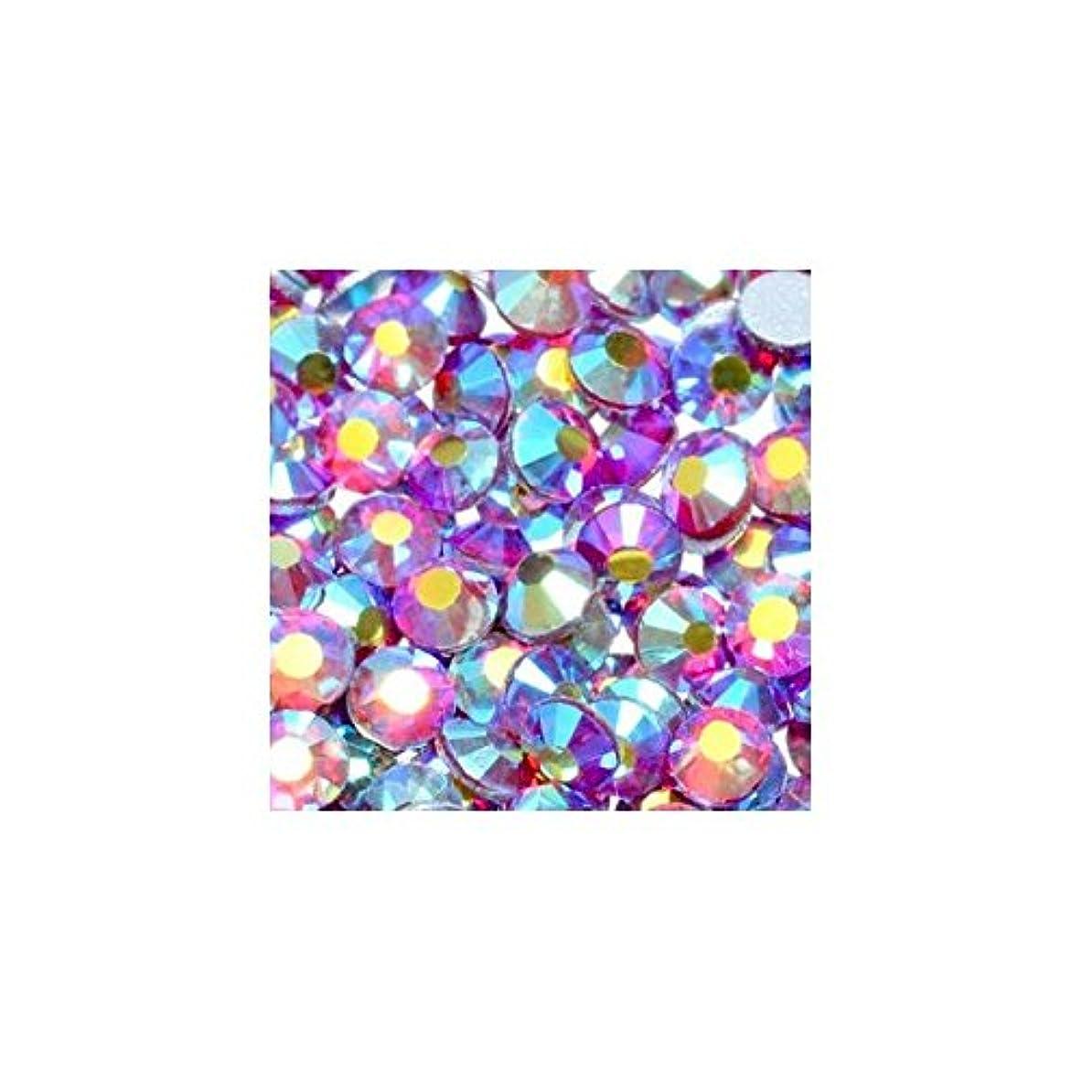 性格その他コマンド高品質クリスタルガラスラインストーン オーロラ ライトシャム Siam AB(SS6) 10Gross 約1440粒