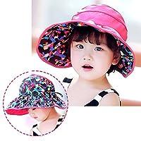 キッズ ハット ベビー 子ども 女の子 赤ちゃん [TIPFLY] 日よけ 両面用帽子 おしゃれ UVカット 夏 日焼け防止 焼け止め キャップ 紫外線対策 バラ [並行輸入品]
