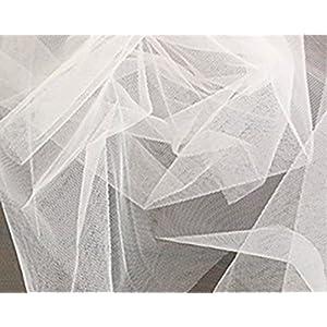 コスモテキスタイル 生地 チュール 15D 無地 ナイロン100% 約183cm幅×2mカット col.11 オフホワイト 1820 ウェディング・コスプレ材料 パニエ 手芸・ハンドメイド用品