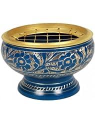 findsomethingdifferent香炉真鍮ブルー