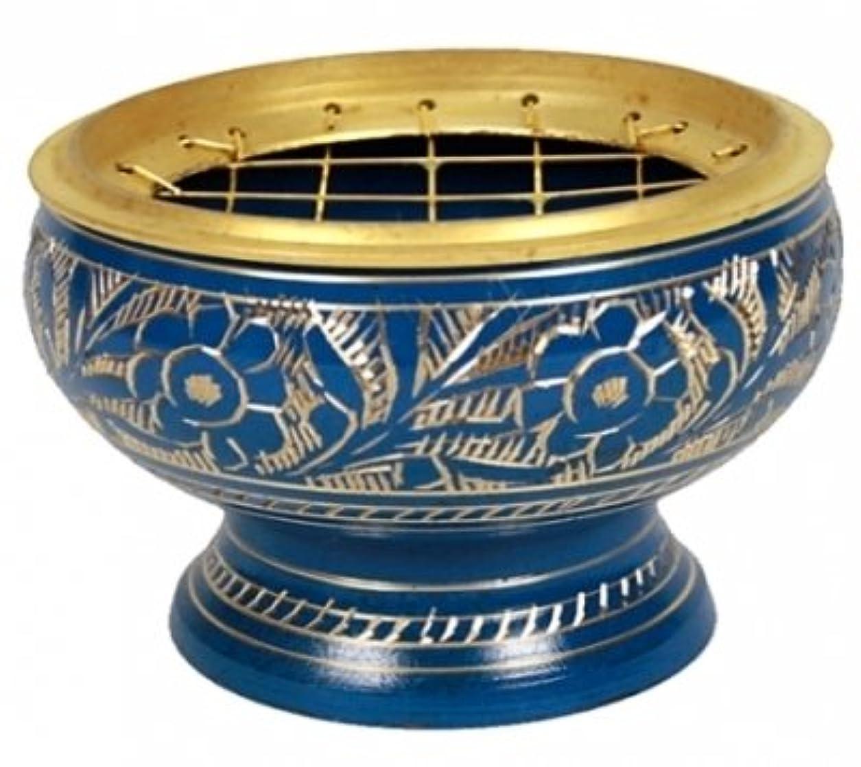 競争力のあるチキン安全でないfindsomethingdifferent香炉真鍮ブルー