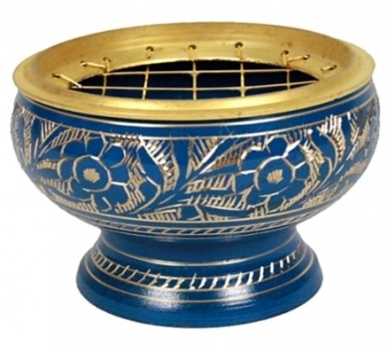 分セラフ抵抗するfindsomethingdifferent香炉真鍮ブルー