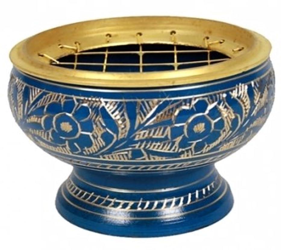 銀することになっている厚くするfindsomethingdifferent香炉真鍮ブルー