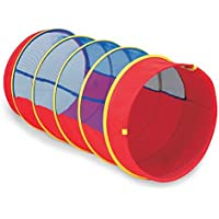 Pacific Play Tents Kids 4 Foot Institutional See Thru Padded Tunnel w/Connecting Lip - Red/Blue [並行輸入品]