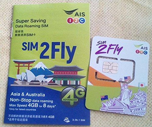 【AIS】韓国 8日間3GBまで高速通信のプリペイド・データ通信SIMカード
