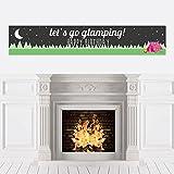 Bigドットの幸せのLet 's Go Glamping – Camp Glamp誕生日パーティーデコレーションパーティーバナー