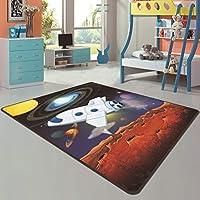漫画の子供のカーペットの寝室の敷物の子供部屋の柔らかい快適な赤ん坊の柔らかいマット,Color1,100X160CM