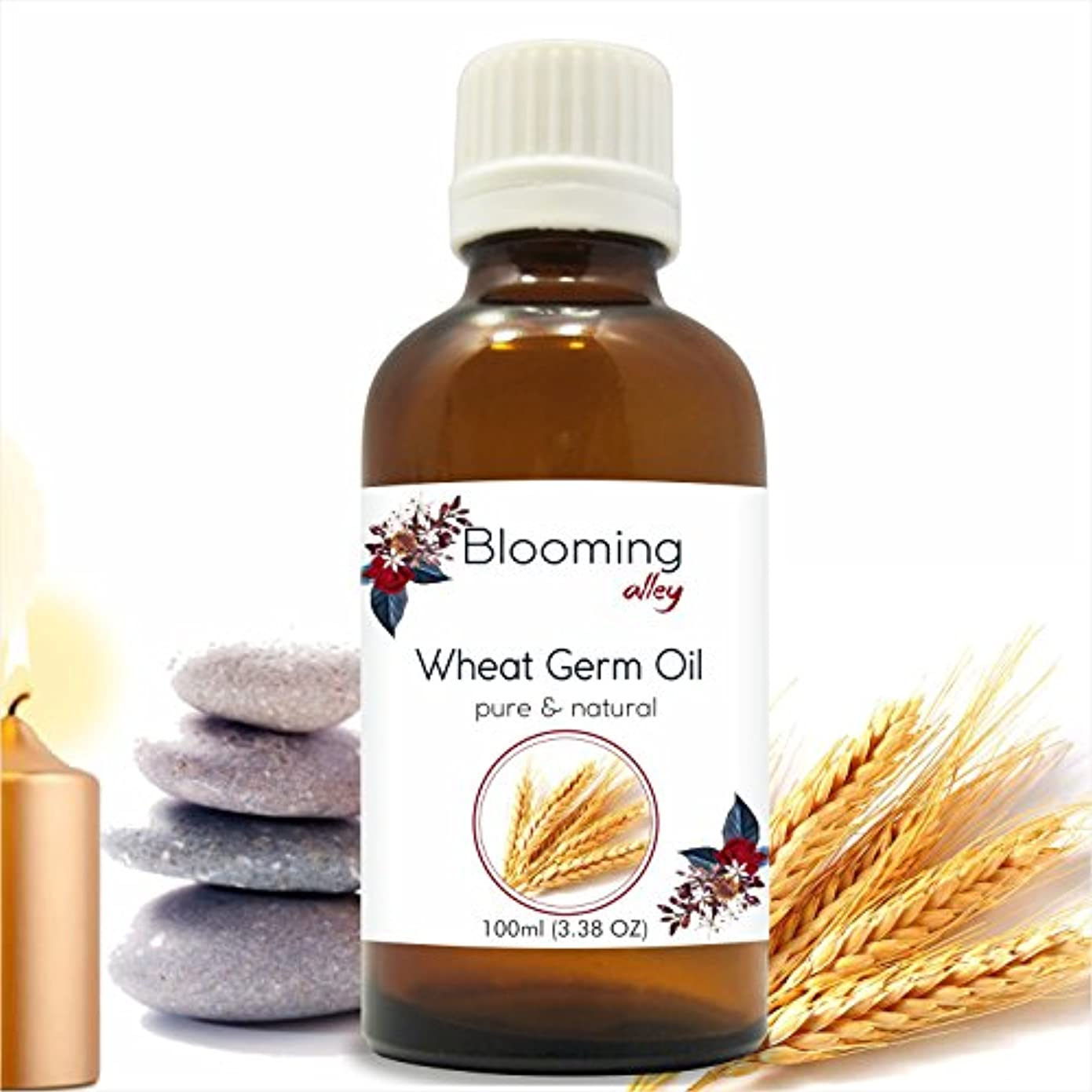 フレキシブル毛皮秋Wheatgerm Oil(Triticum Aestivum) Essential Oil 100 ml or 3.38 Fl Oz by Blooming Alley