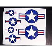 マニアックコレクション(mcd) ステッカー アメリカ戦闘機 国籍マーク