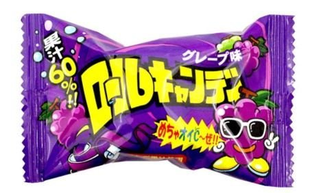 ロールキャンディ (グレープ味) (1箱は20g小袋が24袋入り)