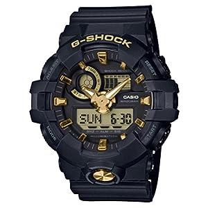 [カシオ]CASIO 腕時計 G-SHOCK ジーショック ブラック&ゴールド GA-710B-1A9JF メンズ