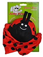 Jolly Pets Lady Bug Squeak Tug Floating Fun Interactive Toy for Pets Dogs Medium