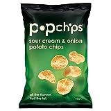 Popchipsサワークリーム&オニオンポップポテトチップス85グラム - Popchips Sour Cream & Onion Popped Potato Crisps 85g [並行輸入品]
