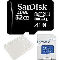 SanDisk サンディスク 超高速UHS-I microSDHC 32GB アプリ最適化 A1対応+ SD アダプター + 保管用クリアケース [バルク品]