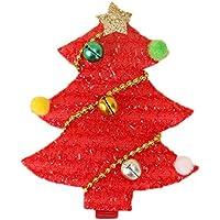 Vi.yo ヘアピン 髪ピン ヘアクリップ クリスマスツリー 可愛い 子供用 ギフト レッド