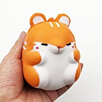 nomsocr 10 cmジャンボSlow Rising Squishy香りつきDecompression Hamster Toy SqueezeソフトStress Reliefギフトforキッズと大人 10cm*7cm*7.5cm. オレンジ MM380