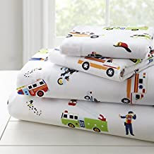 Wildkin Microfiber Full Sheet Set, Includes Top Sheet, Fitted Sheet Two Pillow Cases, Bold Patterns Coordinate Other Room Décor, Olive Kids Design