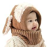 選べる4色 うさぎちゃん風 ニット帽 ニット帽子 ベビー キッズ 赤ちゃん 子 子供 用 かわいい 防寒