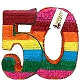 APINATA4U 50歳の誕生日 ダブルデジタル ピニャータ フィエスタテーマ