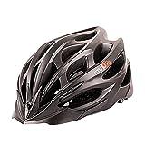 超軽量 サイクリングヘルメット 高剛性 23穴通気アジャスター サイズ調整可能 6色 自転車用 (黒)