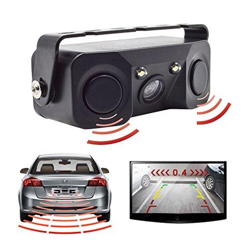 Accfly 車載バックカメラ センサー レーダー探知 リアカメラ ナイトビジョン 車用 バックカメ...