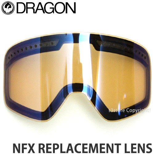 DRAGON(ドラゴン) ゴーグル レンズ NFX REPLACEMENT LENS スペアレンズ / Luma Lens Flash Blue [並行輸入品]