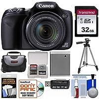 Canon PowerShot sx530HS Wi - Fiデジタルカメラwith 32GBカード+ケース+バッテリー+三脚+キット