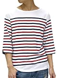 OVAL DICE(オーバルダイス) Tシャツ 7分袖 ボーダー ボートネック メンズ 柄1 L