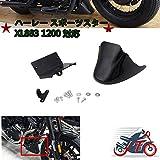 (Jptop) 「ハーレー・スポーツスター」マット フロントスポイラー フェアリング カバー スポイラー チン (未塗装ブラック) ABS樹脂 カスタム XL 883 1200