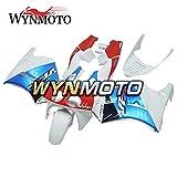 WYNMOTO 青と赤と白の外装部品セット適合フィットホンダ VFR400R NC30 V4 1988 - 1992 プラスチック ABS フェアキットカバー