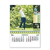 新日本カレンダー 2019年 トーナメントゴルフ カレンダー 壁掛け NK128 (2019年 1月始まり)