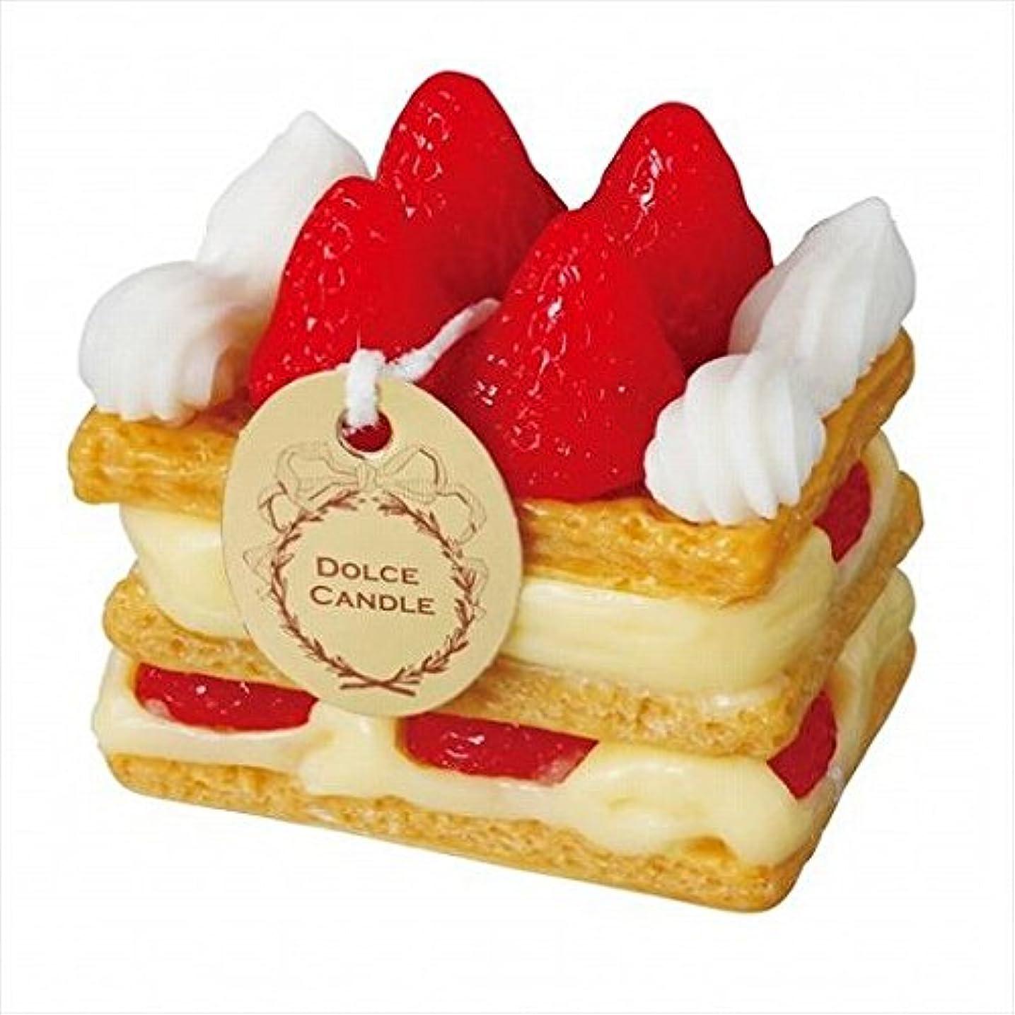 退屈させる後方に権威sweets candle(スイーツキャンドル) ドルチェキャンドル 「 ミルフィーユ 」 キャンドル 60x40x60mm (A4340510)
