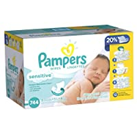 Pampers Sensitive Wipes, 744 Count by Pampers
