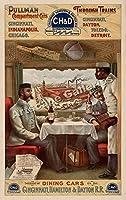 プルマン食堂車1894広告〜ポスター15x24平行輸入