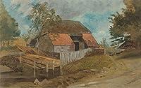 Lionel Constable ジクレープリント キャンバス 印刷 複製画 絵画 ポスター (古い納屋)