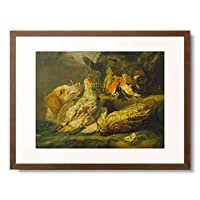 ジャン・フェイト Jan Fyt 1611-1661 「Stillleben mit Jagdhund und toten Vogeln」 額装アート作品
