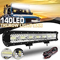 FidgetGear 20インチ140 LEDワークライトバー洪水スポット運転霧ランプ車のトラック4WD +ワイヤー