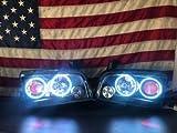 プリモダイナミックダッジ充電器2006–2010ハローリングキットforヘッドライトRGBマルチColored 1009080706