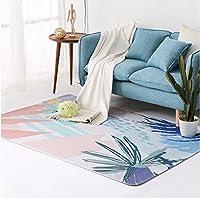 ノルディック漫画フルハウスリビングルームのベッドサイドの長方形の植物の花のカーペット A+ ( 色 : #4 , サイズ さいず : 120*180cm(47.24*70.86in) )