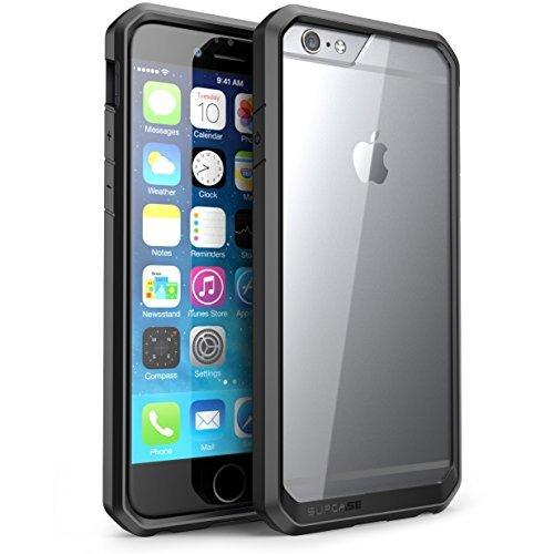 SUPCASE iPhone6 plus ケース/ iPhone6s plus ケース 米軍MIL規格取得 衝撃吸収 Unicorn シリーズ 透明/黒い