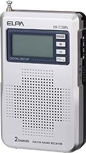 ELPA AM・FMコンパクトラジオ 液晶表示 ER-C28FL