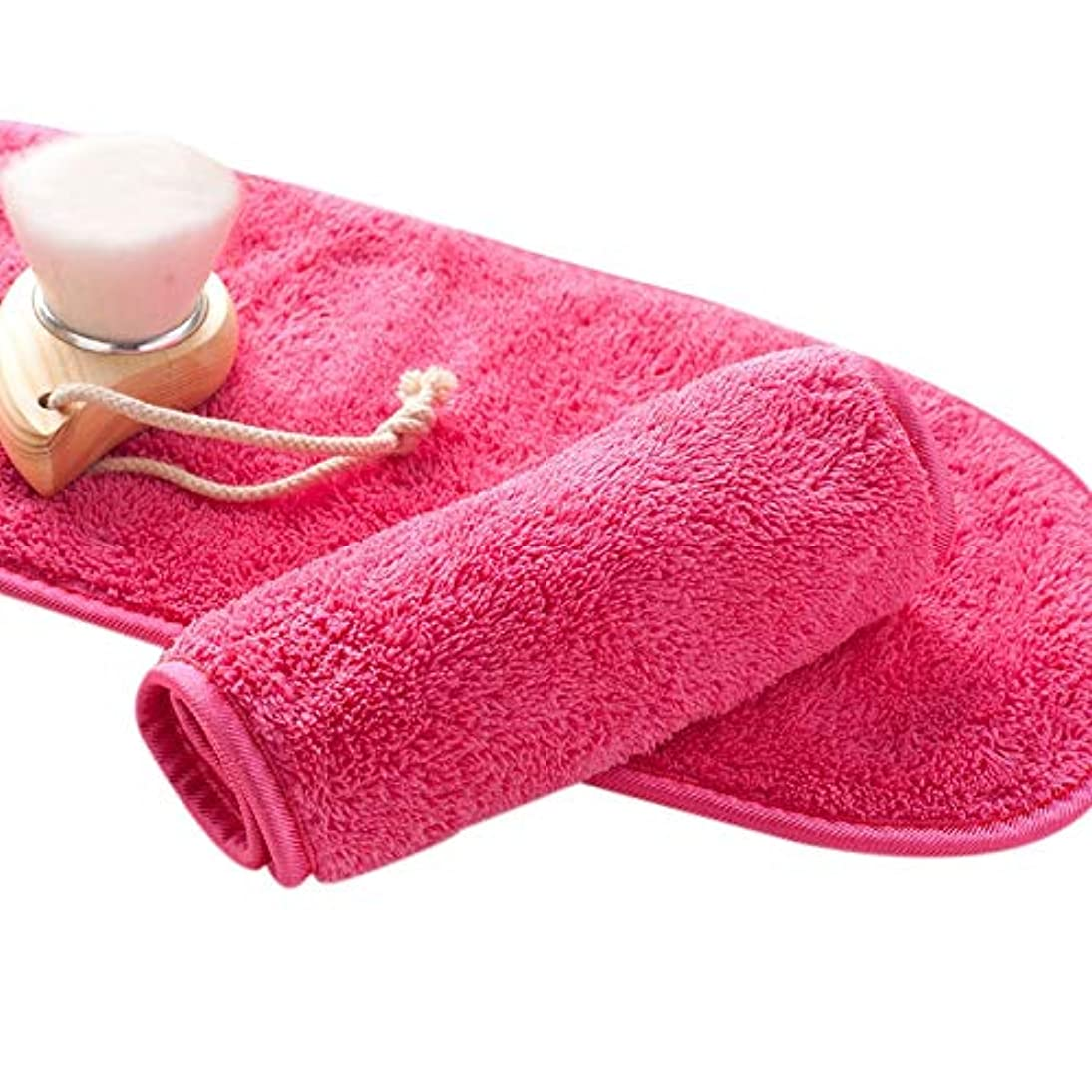 改善段落バスNrpfell ナチュラル抗菌保護 メイク落とし クレンジング美容ウォッシュツール 再利用可能なマイクロファイバーのフェイシャルクロス 顔用タオル