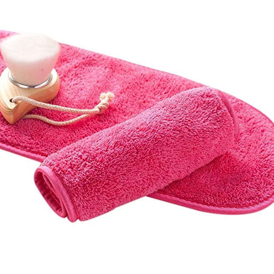 ハーフ月曜胸Gaoominy ナチュラル抗菌保護 メイク落とし クレンジング美容ウォッシュツール 再利用可能なマイクロファイバーのフェイシャルクロス 顔用タオル
