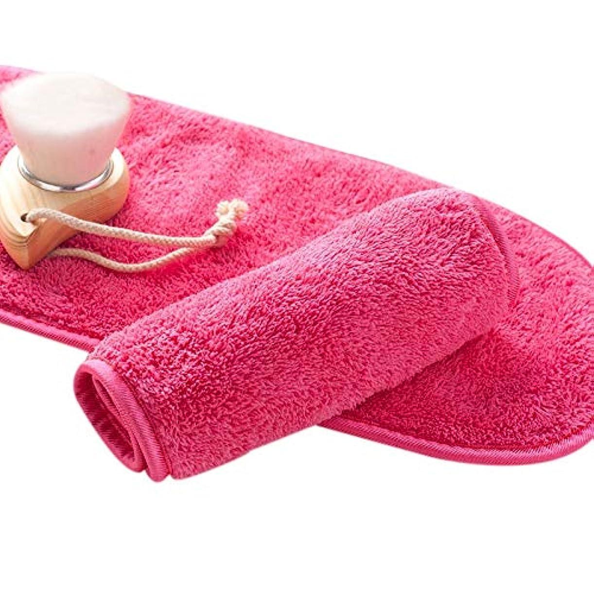 摂動配送解決TOOGOO ナチュラル抗菌保護 メイク落とし クレンジング美容ウォッシュツール 再利用可能なマイクロファイバーのフェイシャルクロス 顔用タオル