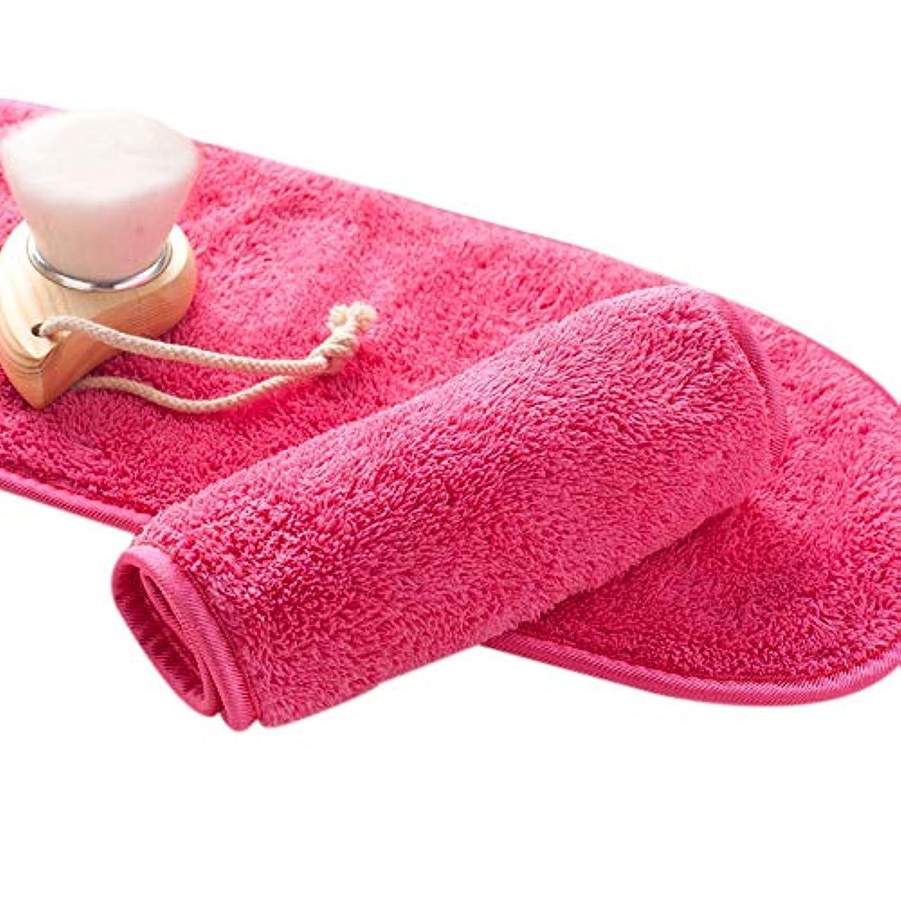 ACAMPTAR ナチュラル抗菌保護 メイク落とし クレンジング美容ウォッシュツール 再利用可能なマイクロファイバーのフェイシャルクロス 顔用タオル