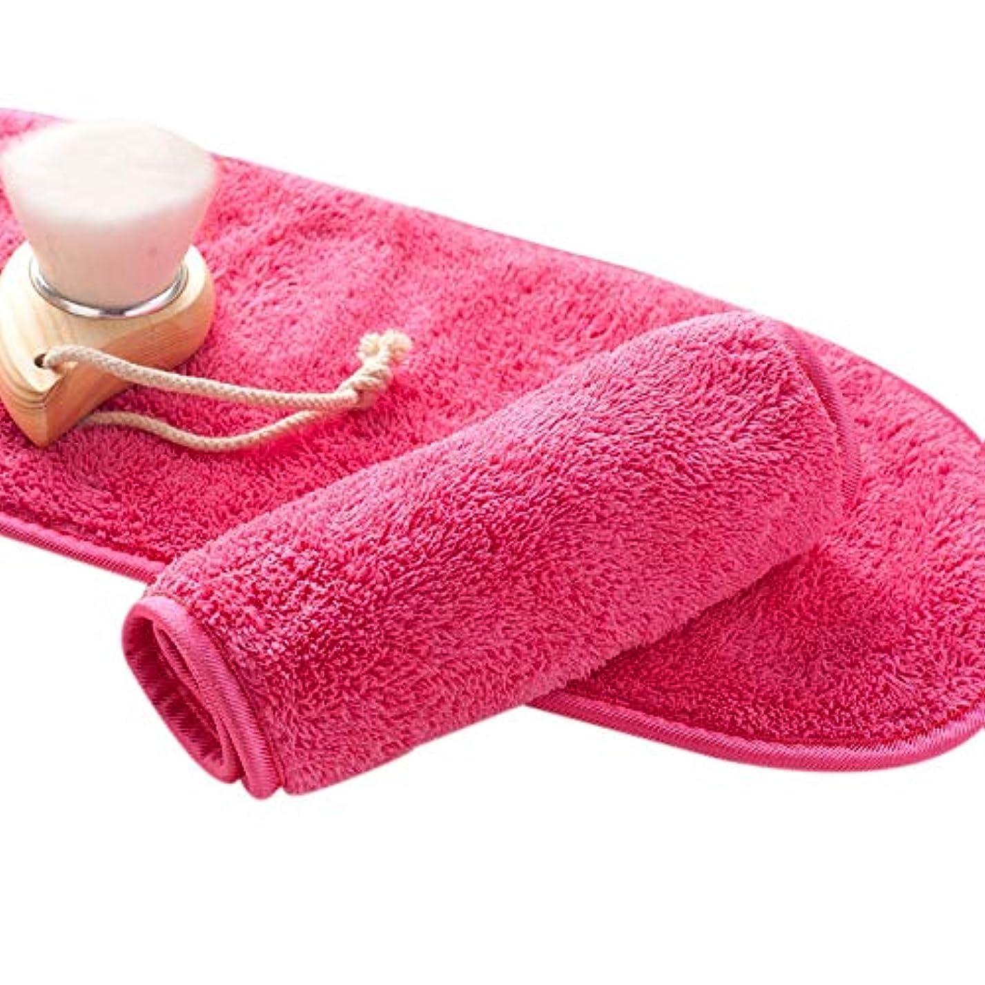 TOOGOO ナチュラル抗菌保護 メイク落とし クレンジング美容ウォッシュツール 再利用可能なマイクロファイバーのフェイシャルクロス 顔用タオル