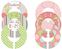 Mumsy Goose Nursery Closet Sizers Baby Girl Coral Pinks by Mumsy Goose
