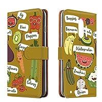 らくらくスマートフォンme F-03K PU手帳型 カードタイプ [オーガニック・マスタード] ベジタブル キャラクター らくらくスマートフォンミー スマホケース 携帯カバー [FFANY] organic-190@04c