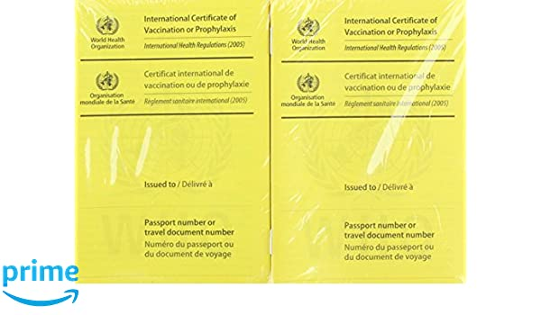 amazon international certificate of vaccination international