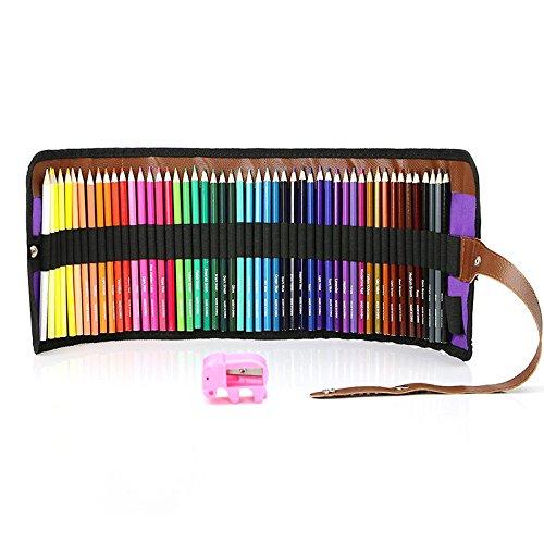 MEGICOT 色鉛筆 50色 油性色鉛筆 塗り絵 描き用 収納ケース付き 鉛筆削り付き 携帯便利